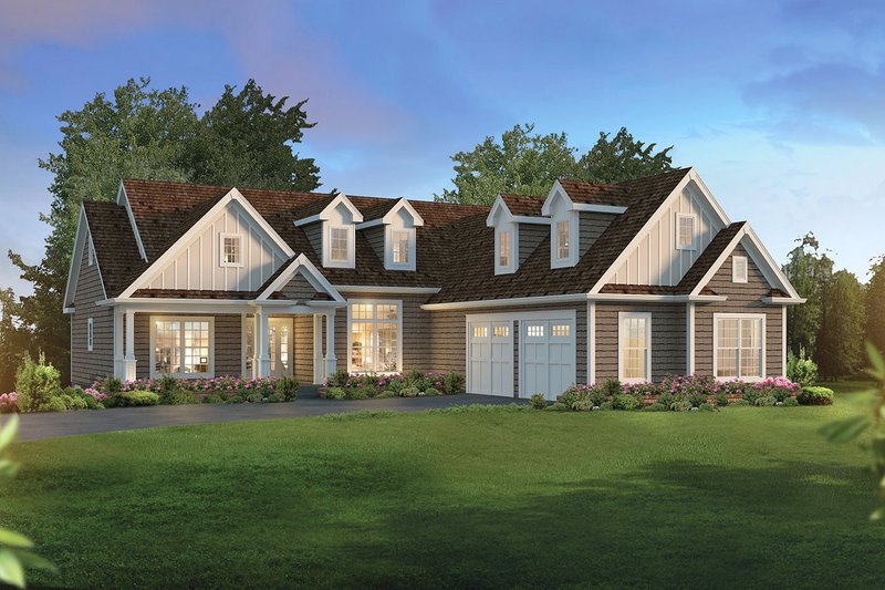 Architectural House Design - Ranch Exterior - Front Elevation Plan #57-665