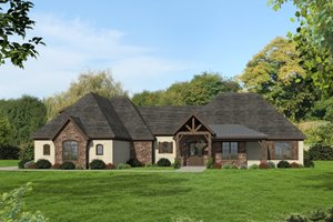 Country Exterior - Front Elevation Plan #932-147