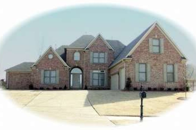 European Style House Plan - 4 Beds 3.5 Baths 3768 Sq/Ft Plan #81-1245 Exterior - Front Elevation