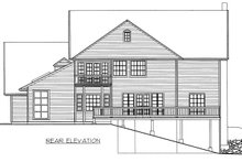 Country Exterior - Rear Elevation Plan #117-878