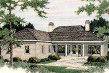 Colonial Exterior - Rear Elevation Plan #406-130