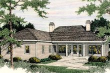Dream House Plan - Colonial Exterior - Rear Elevation Plan #406-130