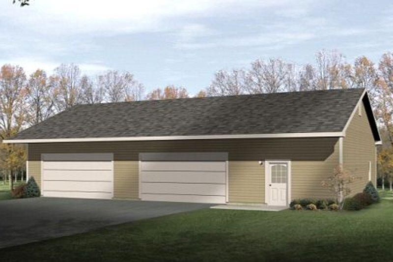 House Plan Design - Modern Exterior - Front Elevation Plan #22-417