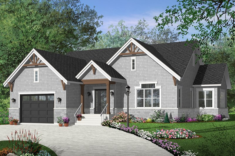 Dream House Plan - Ranch Exterior - Front Elevation Plan #23-2622