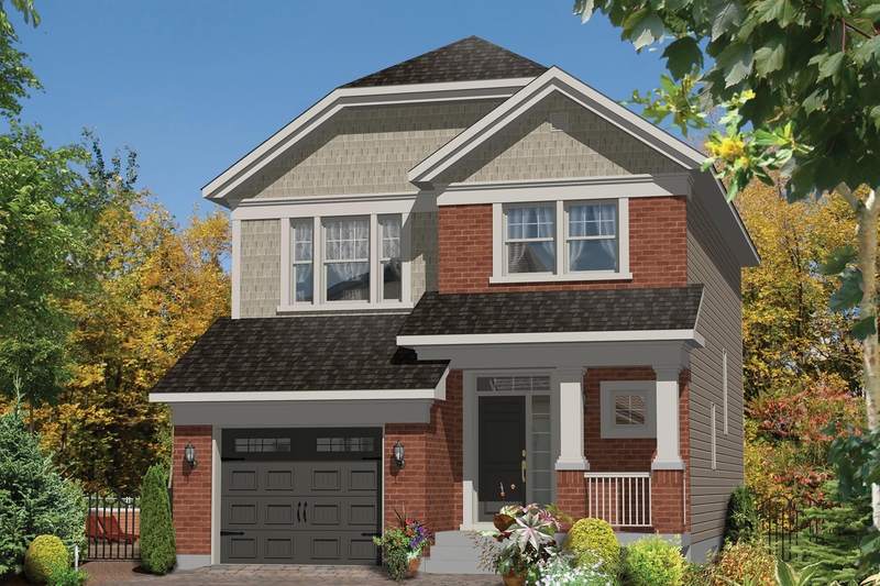Craftsman Style House Plan - 3 Beds 1 Baths 1762 Sq/Ft Plan #25-4431 Exterior - Front Elevation