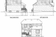 Victorian Style House Plan - 3 Beds 1.5 Baths 1852 Sq/Ft Plan #25-2045 Exterior - Rear Elevation