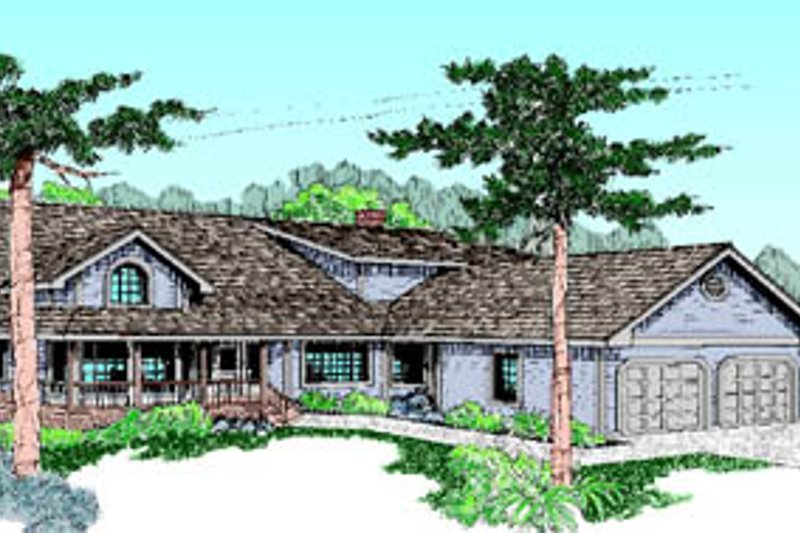 Traditional Exterior - Front Elevation Plan #60-181