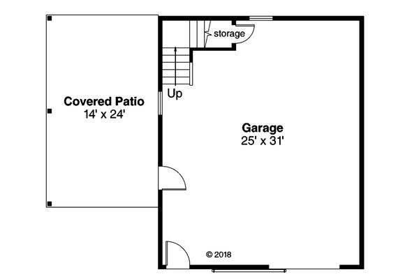 Ranch Floor Plan - Main Floor Plan Plan #124-1132
