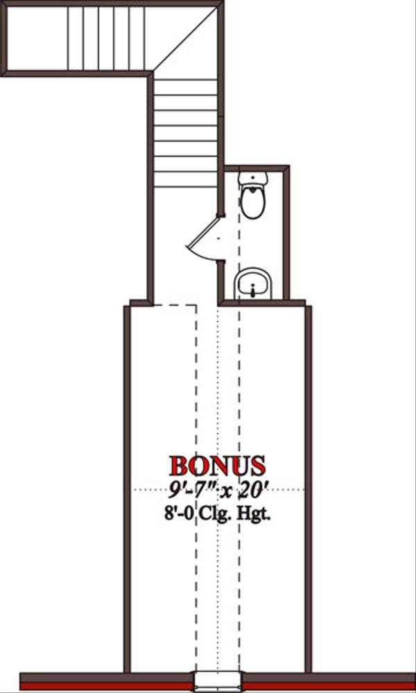 Traditional Floor Plan - Upper Floor Plan Plan #63-200