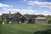 Country Style House Plan - 3 Beds 2.5 Baths 1990 Sq/Ft Plan #124-1120 Exterior - Front Elevation
