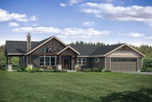 Country Exterior - Front Elevation Plan #124-1120