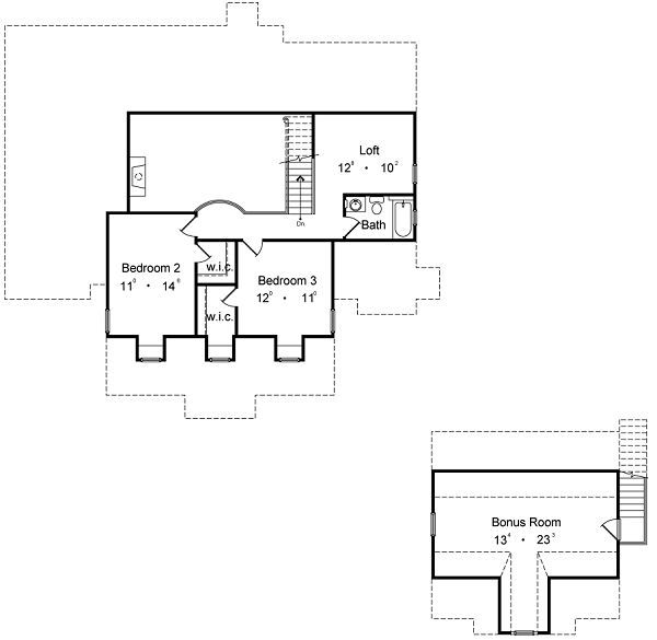 European Floor Plan - Upper Floor Plan Plan #417-278
