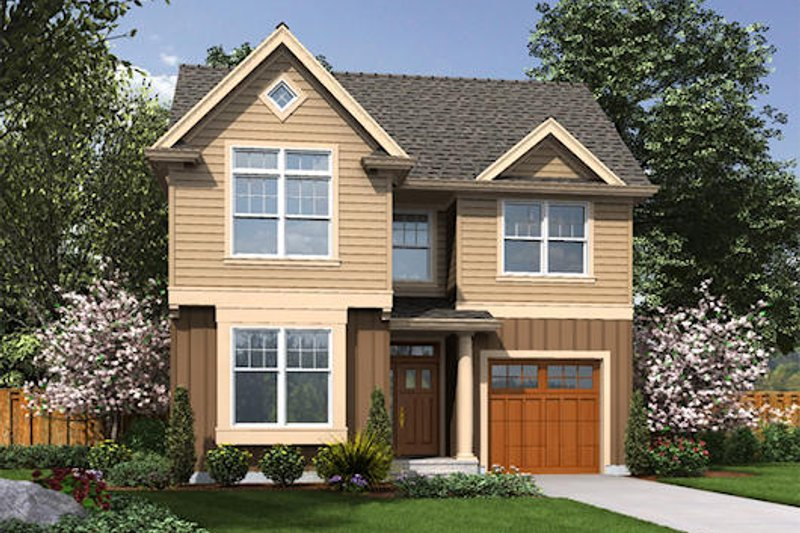 Traditional Exterior - Front Elevation Plan #48-487