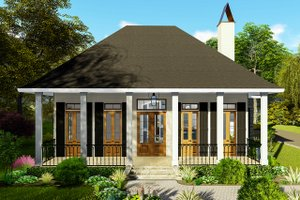 Ranch Exterior - Front Elevation Plan #406-9655