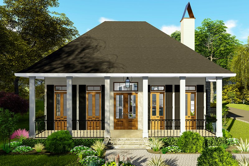 Architectural House Design - Ranch Exterior - Front Elevation Plan #406-9655