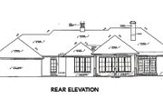 European Style House Plan - 3 Beds 2.5 Baths 2299 Sq/Ft Plan #310-598 Exterior - Rear Elevation