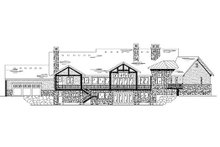 Home Plan - Traditional Exterior - Rear Elevation Plan #5-339