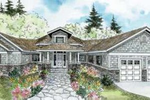 Ranch Exterior - Front Elevation Plan #124-578