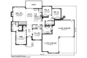 Ranch Style House Plan - 3 Beds 2.5 Baths 2328 Sq/Ft Plan #70-1274 Floor Plan - Main Floor