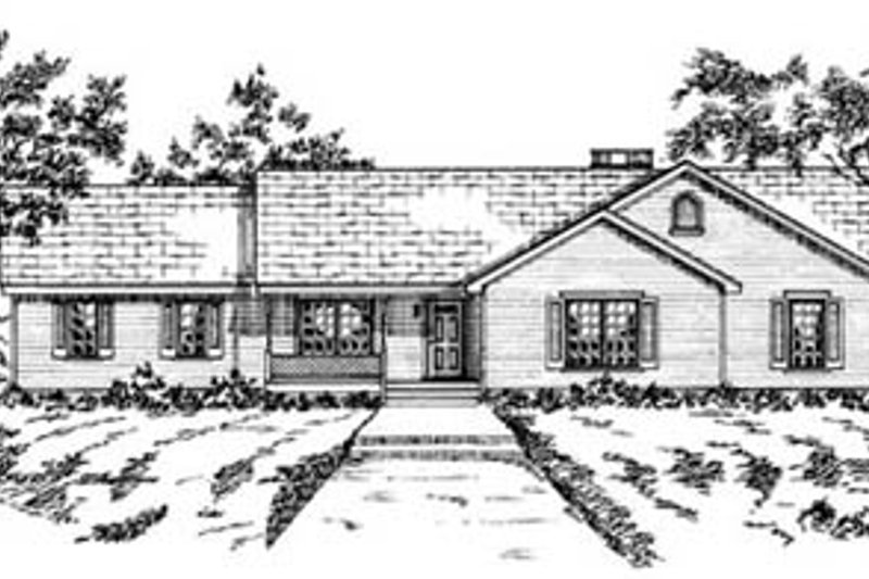Ranch Exterior - Front Elevation Plan #36-159