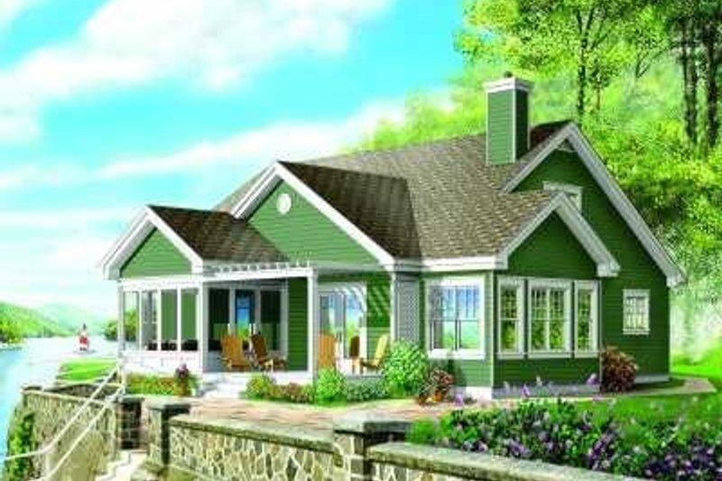 Traditional Exterior - Rear Elevation Plan #23-332 - Houseplans.com
