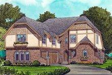 Cottage Exterior - Front Elevation Plan #413-113