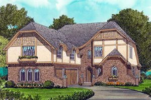 Home Plan - Cottage Exterior - Front Elevation Plan #413-113