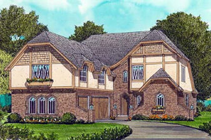 Cottage Exterior - Front Elevation Plan #413-113