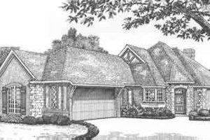 Tudor Exterior - Front Elevation Plan #310-480
