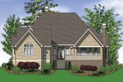 European Style House Plan - 3 Beds 3.5 Baths 2904 Sq/Ft Plan #48-239 Exterior - Rear Elevation
