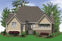 Dream House Plan - Rear View - 2900 square foot Traditional home