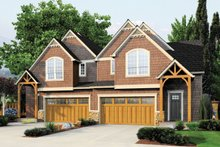 Dream House Plan - Craftsman Exterior - Front Elevation Plan #48-627