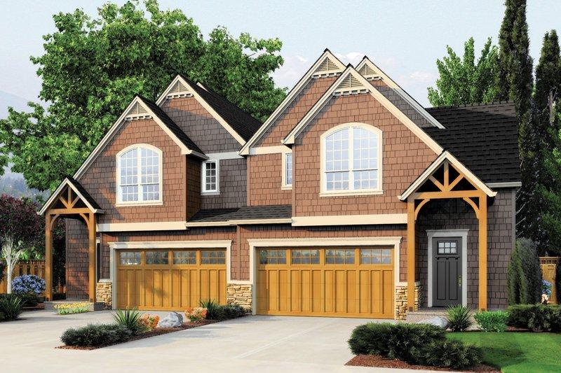 Craftsman Exterior - Front Elevation Plan #48-627