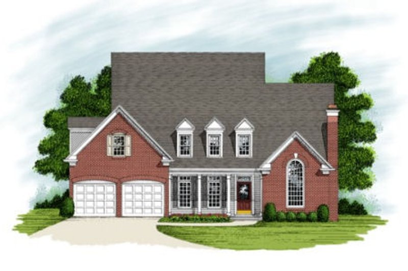 Southern Exterior - Front Elevation Plan #56-207