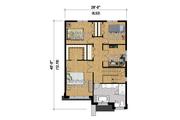 Contemporary Style House Plan - 3 Beds 1 Baths 1823 Sq/Ft Plan #25-4320 Floor Plan - Upper Floor Plan