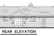 Ranch Style House Plan - 3 Beds 2 Baths 1151 Sq/Ft Plan #18-169 Exterior - Rear Elevation