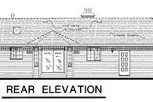 Ranch Exterior - Rear Elevation Plan #18-169