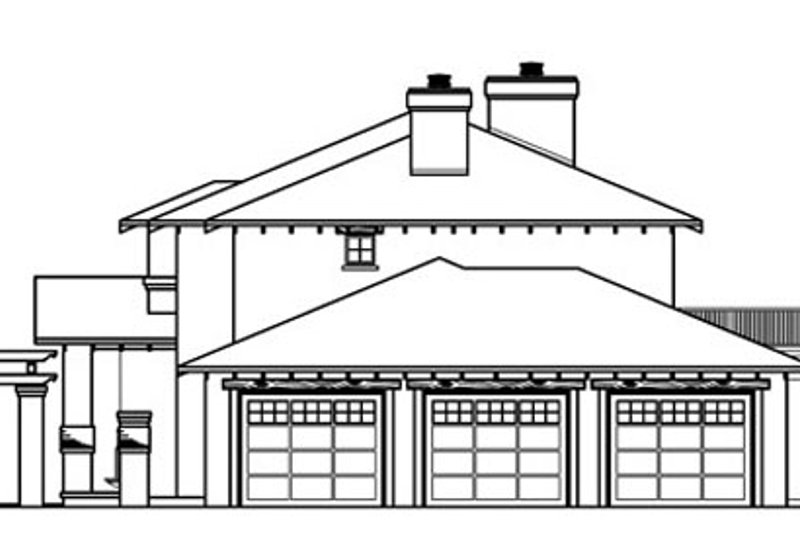 Mediterranean Exterior - Other Elevation Plan #124-711 - Houseplans.com