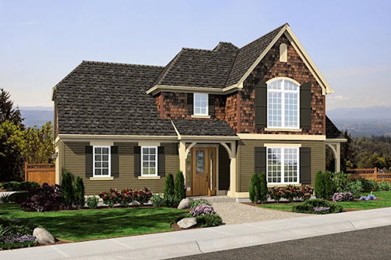 Traditional Exterior - Front Elevation Plan #48-507 - Houseplans.com