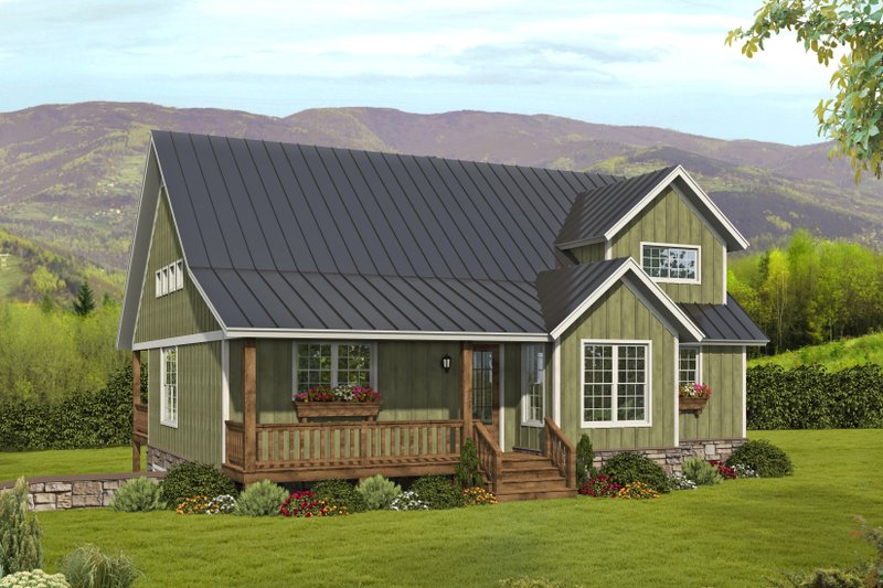 Home Plan - Traditional Exterior - Front Elevation Plan #932-413