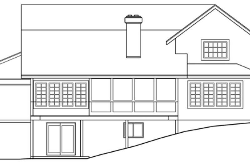Mediterranean Exterior - Rear Elevation Plan #124-409 - Houseplans.com