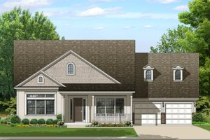Ranch Exterior - Front Elevation Plan #1058-165