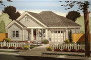 Traditional Style House Plan - 3 Beds 2 Baths 1187 Sq/Ft Plan #513-9 Exterior - Front Elevation
