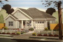 House Plan Design - Traditional Exterior - Front Elevation Plan #513-9