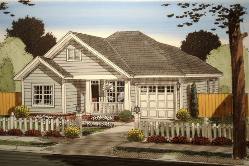 Traditional Exterior - Front Elevation Plan #513-9 - Houseplans.com