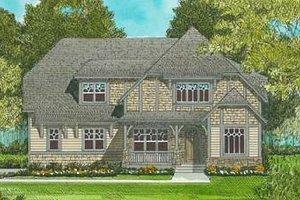 Tudor Exterior - Front Elevation Plan #413-139