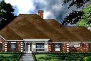 European Style House Plan - 4 Beds 3 Baths 2569 Sq/Ft Plan #40-110 Exterior - Front Elevation