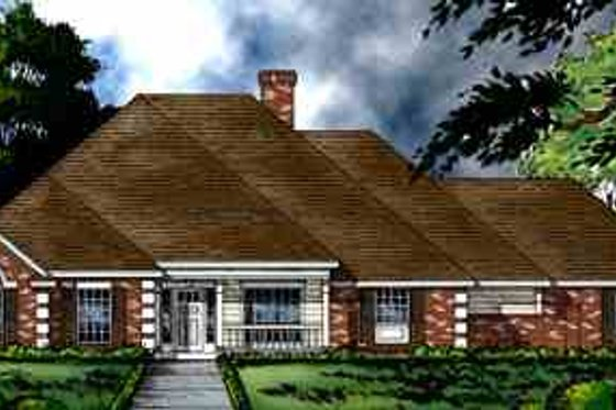 European Exterior - Front Elevation Plan #40-110