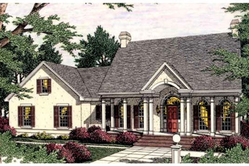 Colonial Style House Plan - 3 Beds 2.5 Baths 2424 Sq/Ft Plan #406-276 Exterior - Front Elevation