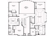 European Style House Plan - 4 Beds 4 Baths 3073 Sq/Ft Plan #119-341 Floor Plan - Upper Floor Plan